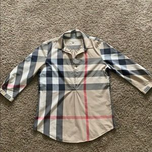 Burberry Brit 1/2 button down women's top